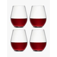 LSA International Wine Collection Stemless Red Wine Glasses, Set of 4