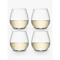 shop for LSA International Wine Collection Stemless White Wine Glasses, 370ml, Set of 4 at Shopo
