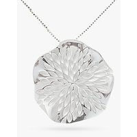shop for Nina B Sterling Silver Wavy Disc Pendant, Silver at Shopo
