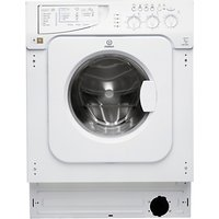 Indesit IWME147(UK) Integrated Washing Machine, 7kg Load, A+ Energy Rating, 1400rpm Spin