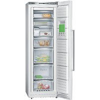 Siemens GS36NAW31G Tall Freezer, A++ Energy Rating, 60cm Wide, White