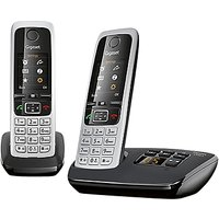 Gigaset C430A Digital Cordless Telephone and Answer Machine, Twin DECT