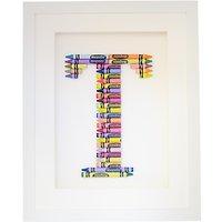 The Letteroom Crayon T Framed 3D Artwork, 34 x 29cm