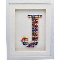 The Letteroom Crayon J Framed 3D Artwork, 34 x 29cm