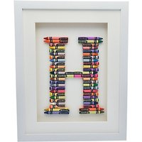 The Letteroom Crayon H Framed 3D Artwork, 34 x 29cm