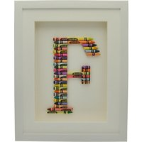 The Letteroom Crayon F Framed 3D Artwork, 34 x 29cm