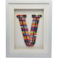 The Letteroom Crayon V Framed 3D Artwork, 34 x 29cm