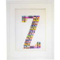 The Letteroom Crayon Z Framed 3D Artwork, 34 x 29cm