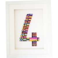 The Letteroom Crayon 4 Framed 3D Artwork, 34 x 29cm