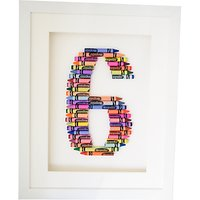 The Letteroom Crayon 6 Framed 3D Artwork, 34 x 29cm