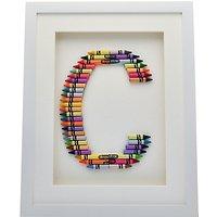 The Letteroom Crayon C Framed 3D Artwork, 34 x 29cm
