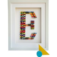 The Letteroom Crayon E Framed 3D Artwork, 34 x 29cm