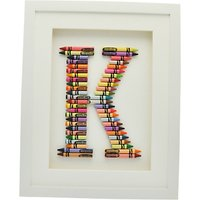 The Letteroom Crayon K Framed 3D Artwork, 34 x 29cm