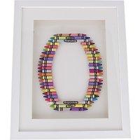 The Letteroom Crayon O Framed 3D Artwork, 34 x 29cm