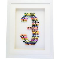 The Letteroom Crayon 3 Framed 3D Artwork, 34 x 29cm