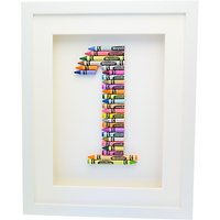 The Letteroom Crayon 1 Framed 3D Artwork, 34 x 29cm
