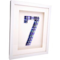 The Letteroom Crayon 7 Framed 3D Artwork, 34 x 29cm