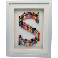 The Letteroom Crayon S Framed 3D Artwork, 34 x 29cm