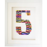 The Letteroom Crayon 5 Framed 3D Artwork, 34 x 29cm