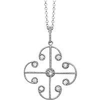 shop for London Road 9ct White Gold Diamond Lattice Pendant, White Gold at Shopo