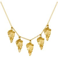 shop for London Road 9ct Gold Kew Leaf Necklace, Gold at Shopo