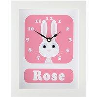 Stripey Cats Personalised Rhonda Rabbit Framed Clock, 23 x 18cm