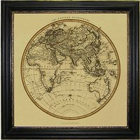 Brookpace, Vintage Maps Collection - Eastern Hemisphere Framed Print, 91 x 91cm