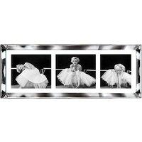 Brookpace, The Manhattan Collection - Ballerina Triptych Framed Print, 39 x 102cm