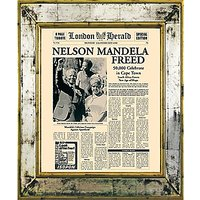Brookpace, The Versailles Collection - Nelson Mandela Freed Framed Print, 55 x 45cm