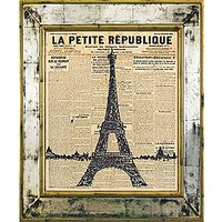 Brookpace, The Versailles Collection - Eiffel Tower Framed Print, 55 x 45cm