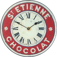 Lascelles St Etienne Wall Clock, Red, Dia.36cm