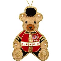 Tinker Tailor Tourism Union Jack Teddy Tree Decoration