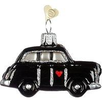 Bombki Tourism Little London Taxi Glass Hanging Decoration, Black