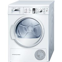 Bosch WTW863S1GB Sensor Heat Pump Condenser Tumble Dryer, 7kg Load, A++ Energy Rating, White