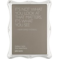 John Lewis Flora Photo Frame, Silver Plated, 5 x 7 (13 x 18cm)
