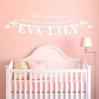 Megan Claire Personalised Little Girl Wall Sticker