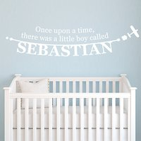 Megan Claire Personalised Little Boy Wall Sticker