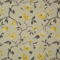 John Lewis Linen Rose Furnishing Fabric, Yellow