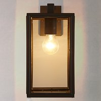 John Lewis Louvre Outdoor Glass Lantern, Coffee