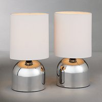 John Lewis The Basics Lucy Touch Lamp Duo, Set of 2