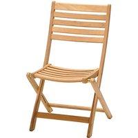 John Lewis Longstock Folding Garden Chair, FSC-Certified (Teak), Natural