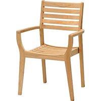 John Lewis & Partners Longstock Stacking Garden Chair, FSC-Certified (Teak), Natural