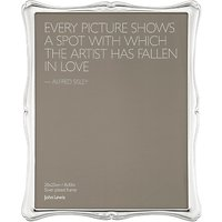 John Lewis Flora Photo Frame, Silver Plated, 8 x 10 (20 x 25cm)