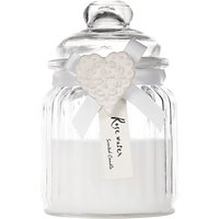 John Lewis Rosewater Heart Glass Candle Jar