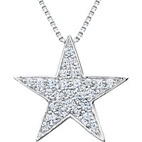 shop for Jools by Jenny Brown Sterling Silver Pave Star Pendant, Rhodium at Shopo