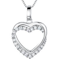 shop for Jools by Jenny Brown Sterling Silver Tangled Pave Heart Pendant, Rhodium at Shopo