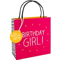 Happy Jackson Birthday Girl Gift Bag, Multi, Small