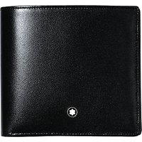shop for Montblanc Meisterstück 8 Card Horizontal Leather Wallet, Black at Shopo