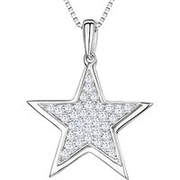shop for Jools by Jenny Brown Rhodium Plated Silver Cubic Zirconia Stars Pendant at Shopo