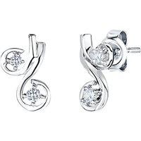 shop for Jools by Jenny Brown Cubic Zirconia Cherry Stud Earrings, Silver at Shopo